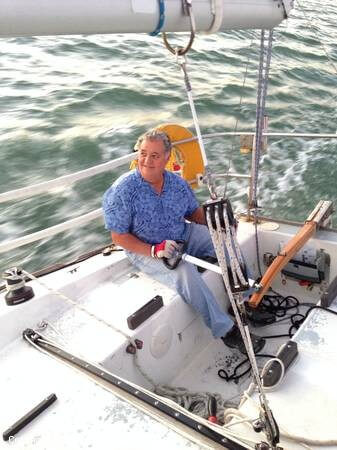 Happy Owner At The Helm