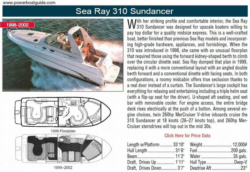 2001 Sea Ray 310 Sundancer - Photo #2
