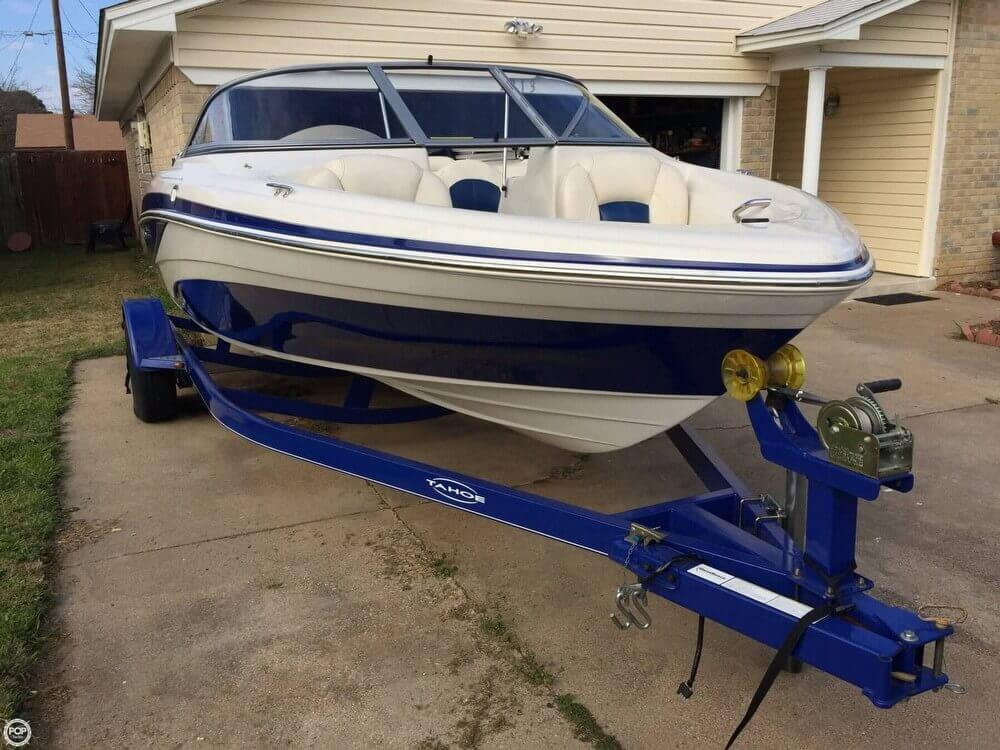Right Front Of Boat On Trailer