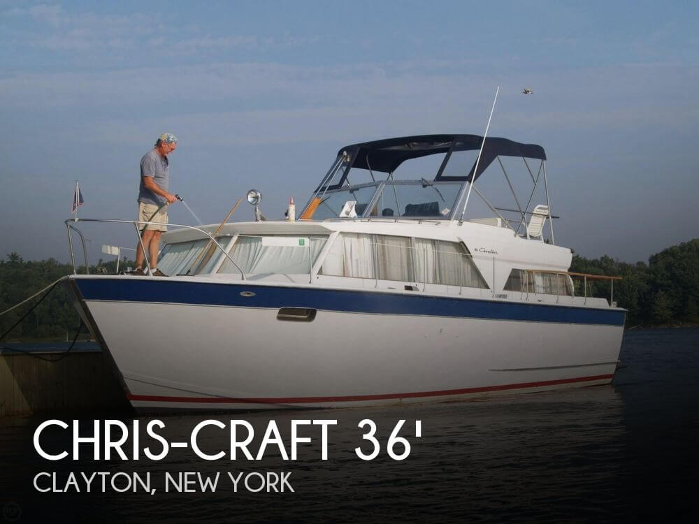Chris craft 36 cavalier motor yacht for sale in clayton for Motor yachts for sale near me