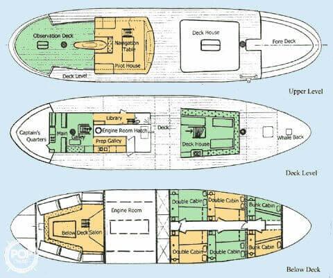 1963 H. De Hass 78 Trawler - Photo #12