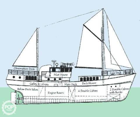 1963 H. De Hass 78 Trawler - Photo #13