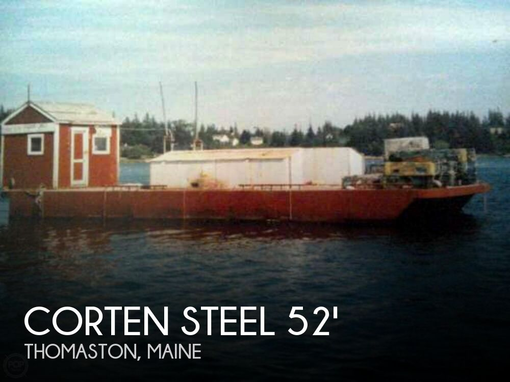 Corten Steel 20 X 52 Barge Boat For Sale In Thomaston Me For
