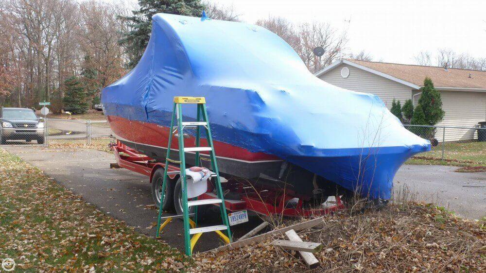 Boat Shrink Wrapped - November 2014