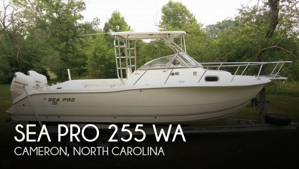 Sea pro 255 wa for sale in cameron nc for 39 000 pop for Used fishing boats for sale in eastern nc