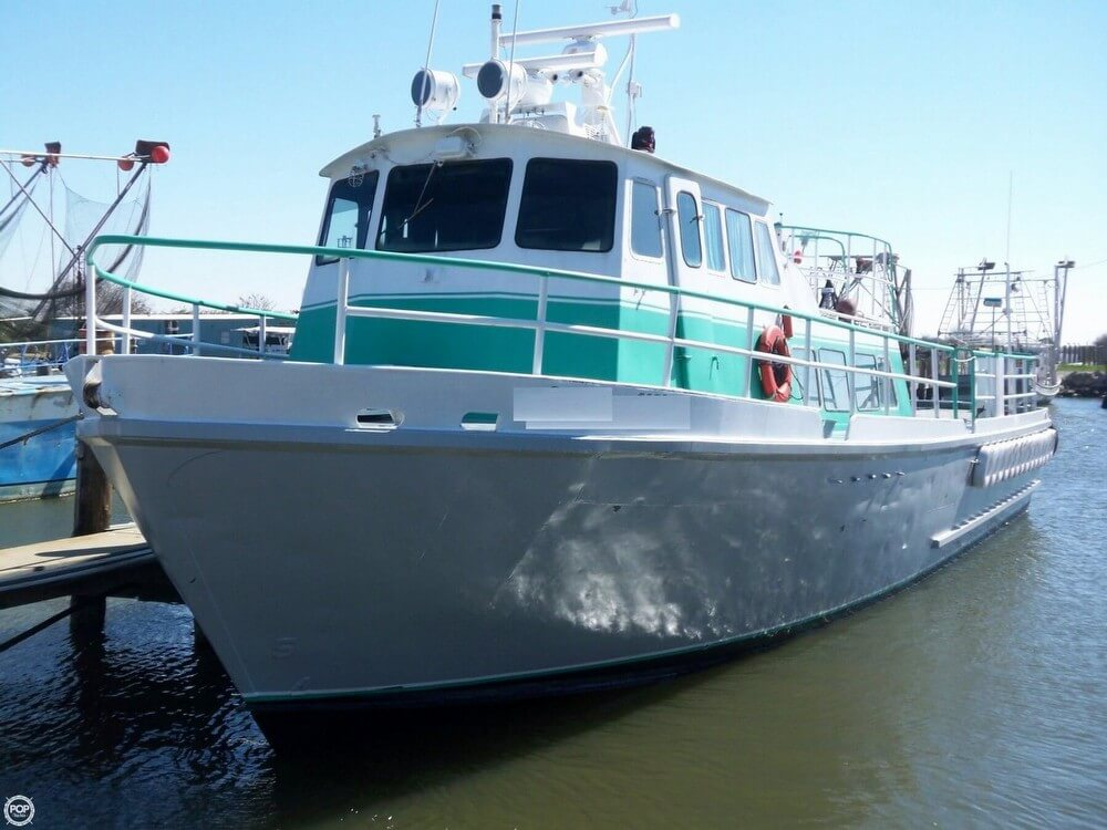 1963 Stewart Seacraft boat for sale, model of the boat is 64 Crew Boat with 2013 engines & Image # 3 of 40