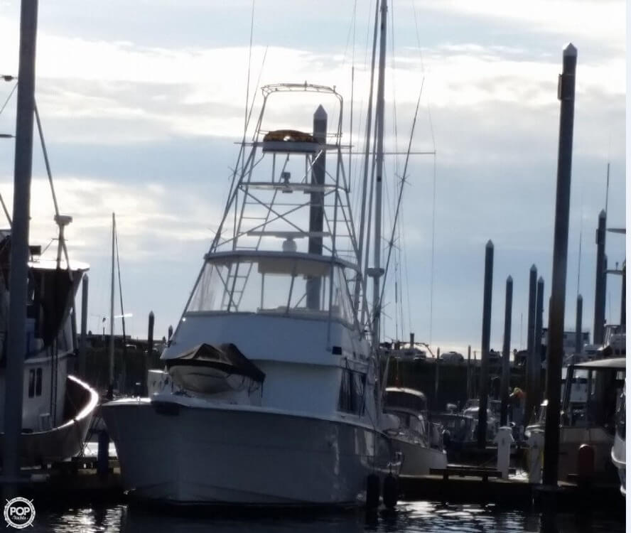 1988 Hatteras boat for sale, model of the boat is 52 Convertible & Image # 4 of 23