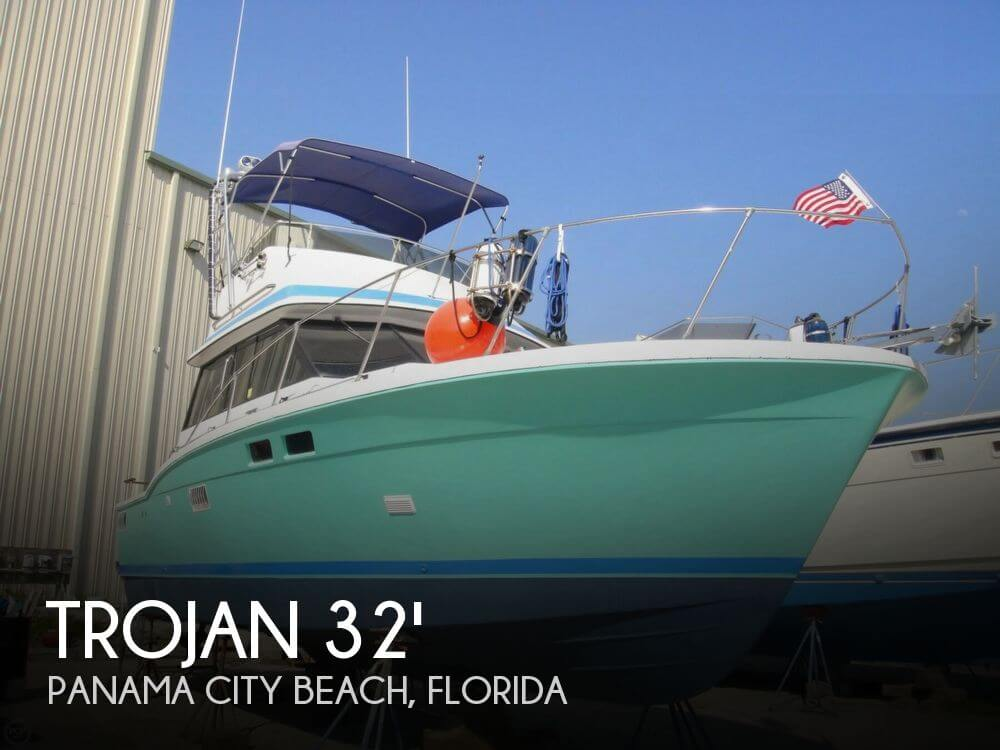 For sale used 1975 trojan 32 f sport fisherman in panama for Used boat motors panama city fl