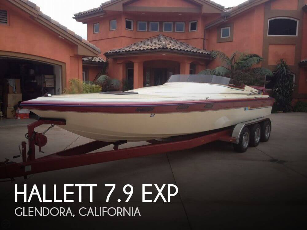1986 Hallett boat for sale, model of the boat is 7.9 EXP & Image # 1 of 26