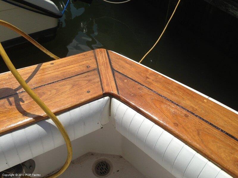 Teak Wood Railings (stern View)