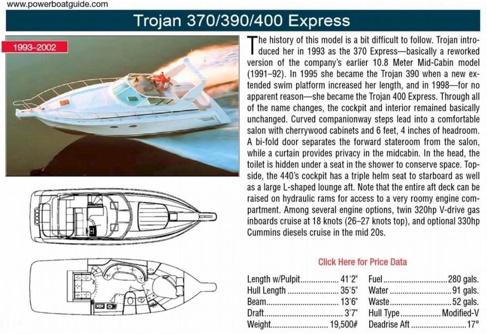 1995 Trojan 390 Express - Photo #2