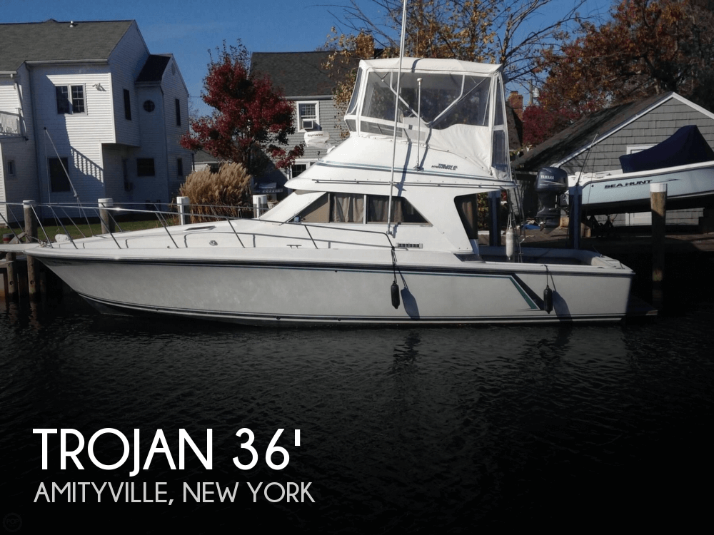 1990 Trojan 36 Fishing Boat For Sale In Amity Harbor Ny