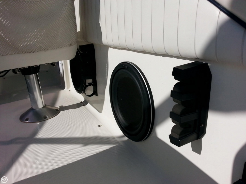 Kenwood Woofers Next To Rod Holders