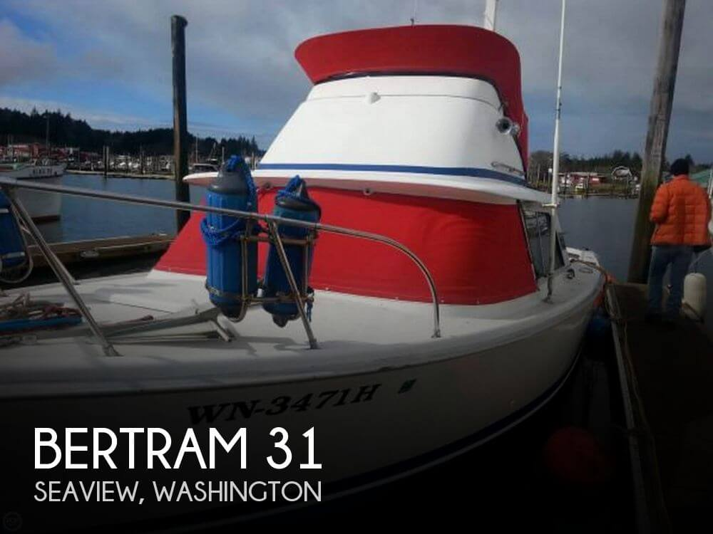 31 foot bertram 31 31 foot fishing boat in long beach wa for Long beach fishing boat