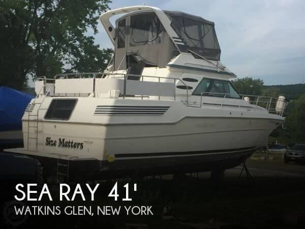 Used Boats For Sale in Binghamton, New York by owner | 1987 Sea Ray 41