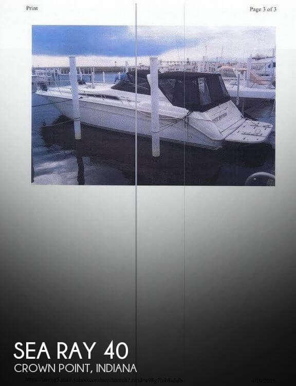 Used Boats For Sale in Indiana by owner | 1991 Sea Ray 40