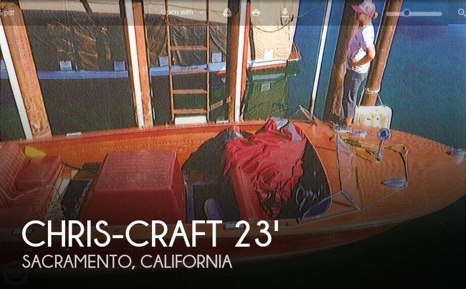 Used Chris-Craft Boats For Sale in California by owner | 1956 Chris-Craft 23