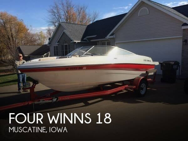 2002 four winns 18 power boat for sale in muscatine ia for Used fishing boats for sale in iowa