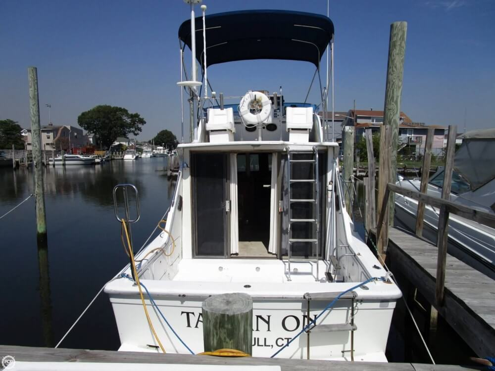 1980 uniflite 34 sport sedan fishing boat for sale in for Sport fishing boats for sale