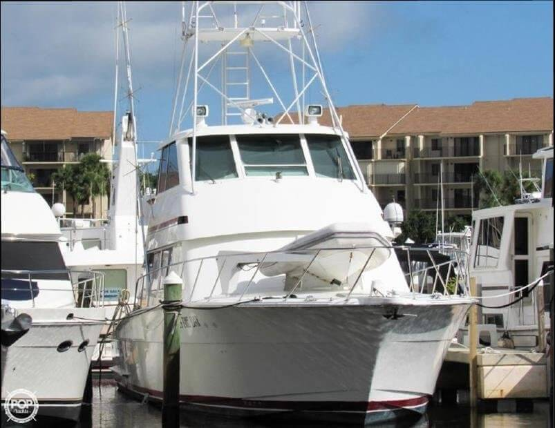1990 Hatteras 58 Convertible - Photo #24