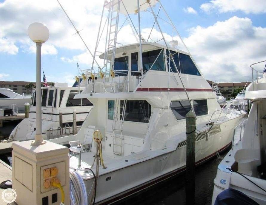 1990 Hatteras 58 Convertible - Photo #39