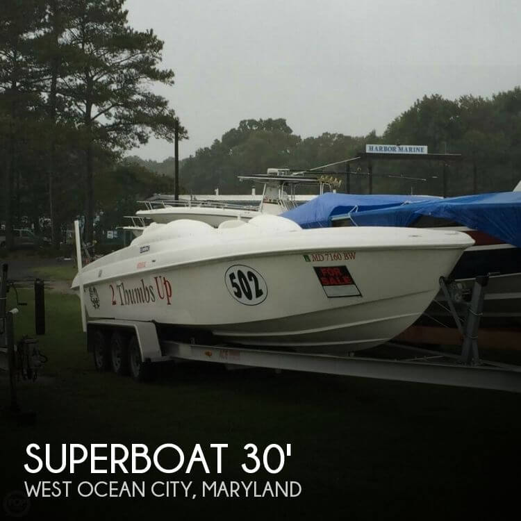 2005 superboat 30 power boat for sale in ocean city md for Outboard motors for sale maryland