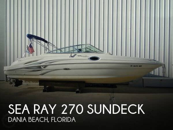 Sea Ray 270 Sundeck Deck Boats For Sale - Page 1 of 1 | Boat Buys