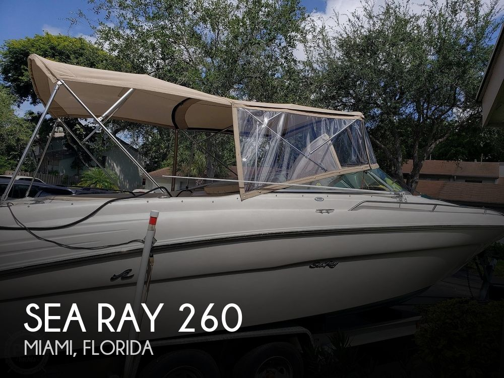 2001 Sea Ray boat for sale, model of the boat is 260 Signature & Image # 1 of 40