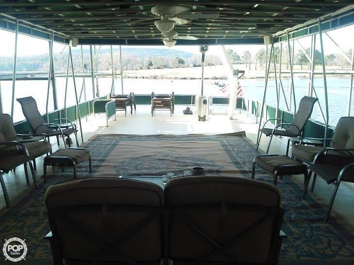 Upper Deck Looking Aft. Notice Davit And Water Slide. (furniture Not Included)