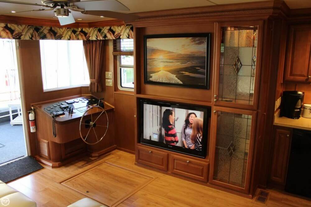Entertainment Center Includes Surround Sound For The Entire Boat.